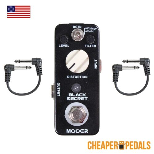 NEW MOOER BLACK SECRET RAT Distortion Pedal 2 FREE Patch Cables /& Shipping!