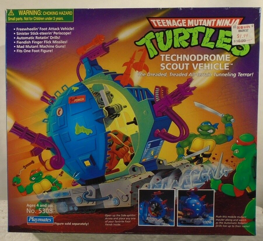 barato y de alta calidad Teenage Mutant Ninja Turtles Technodrome Scout vehículo (sellado) (sellado) (sellado) Jugarmates 1998  con 60% de descuento