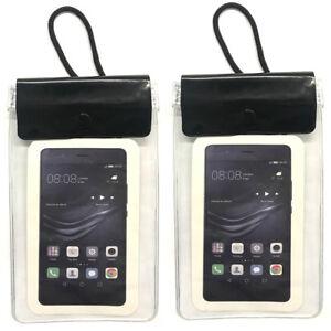 2x-Handy-Brustbeutel-wasserdicht-Handytasche-Umhaengebeutel-Smartphone-Tasche