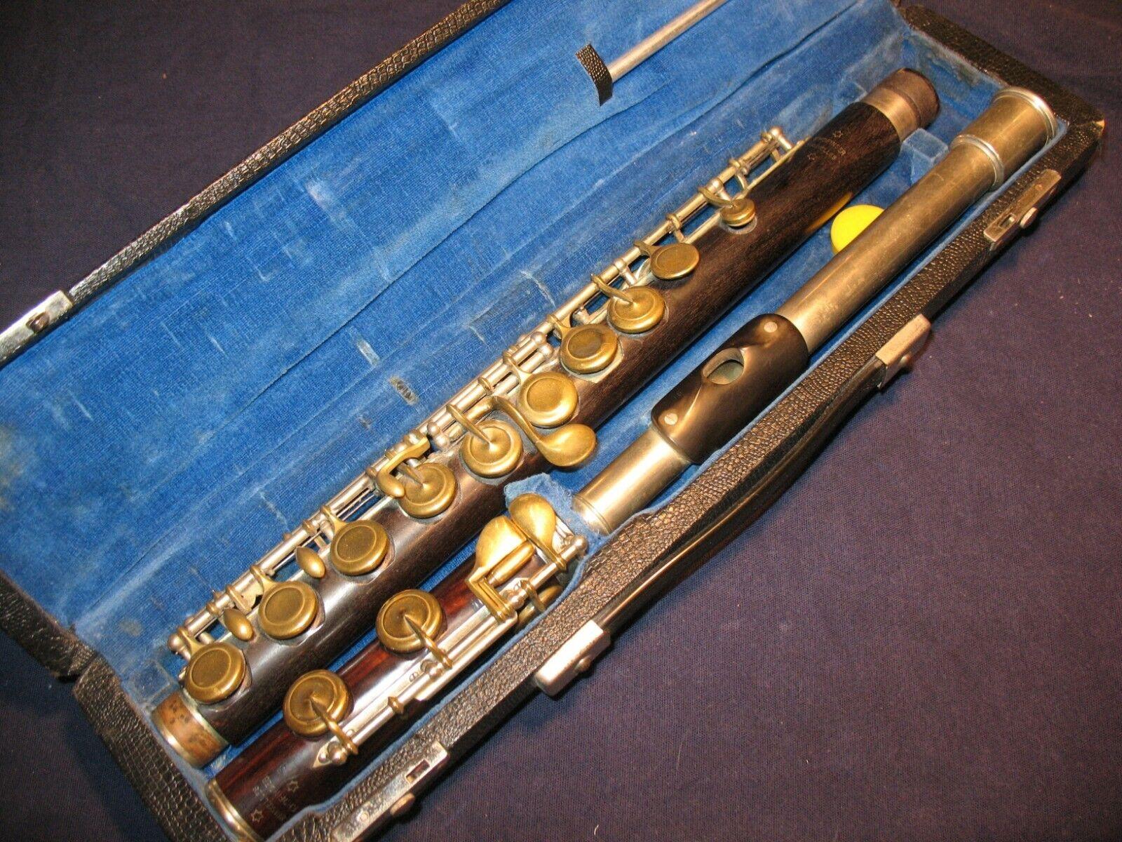 F. Hofinger Bruxelles, Holz Querflöte, Holzquerflöte, wood wooden flute