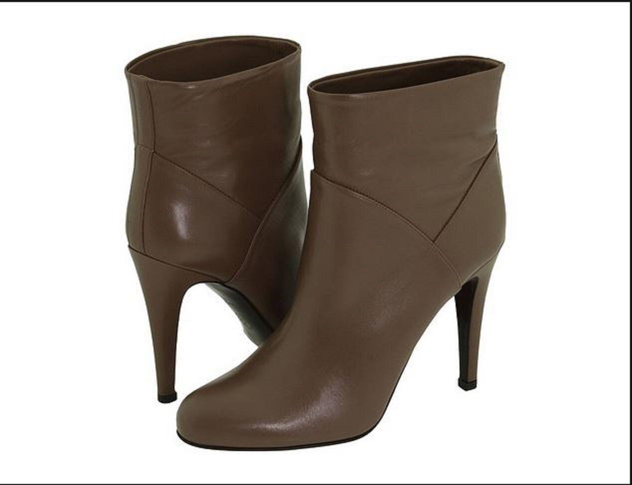Nouveau femmes BALLY 9.5 US 40 EUR Cuir Noisette Bottines Bottines Bottines Bottillons Bottes Chaussures BX e1e7c8