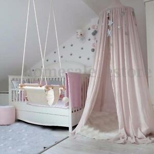 Image is loading Pink-Canopy-Bed-Netting-Mosquito-Bedding-Net-Baby- & Pink Canopy Bed Netting Mosquito Bedding Net Baby Kids Reading ...