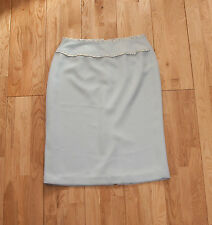 Light Baby Blue Womens Skirt - Made In Canada - Size 8 UK
