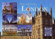 Tuvalu 2015 MNH Sites & Scenes London Europhilex 5v M/S Tower Bridge Stamps