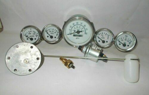 Gauges Kit 85 mm Speedometer Elec Temp Oil Fuel Volt Senders Sending unit