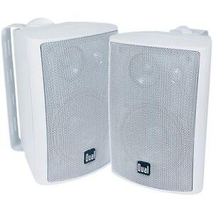 Pair Dual 4'' LU43PW 3Way Waterproof Box Boat Home Outdoor Indoor Speaker System