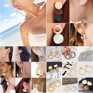 Fashion-Women-Statement-Boho-Gold-Plated-Alloy-Geometric-Big-Dangle-Drop-Earring