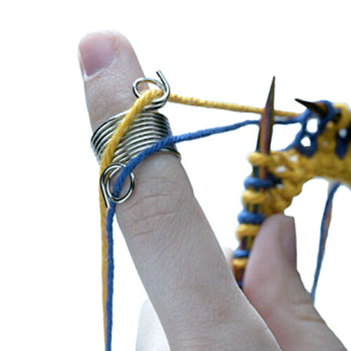 Fingerhut Fingerschutz Strickfingerhut Fadenführung Fadenführer Metall 1.2mm