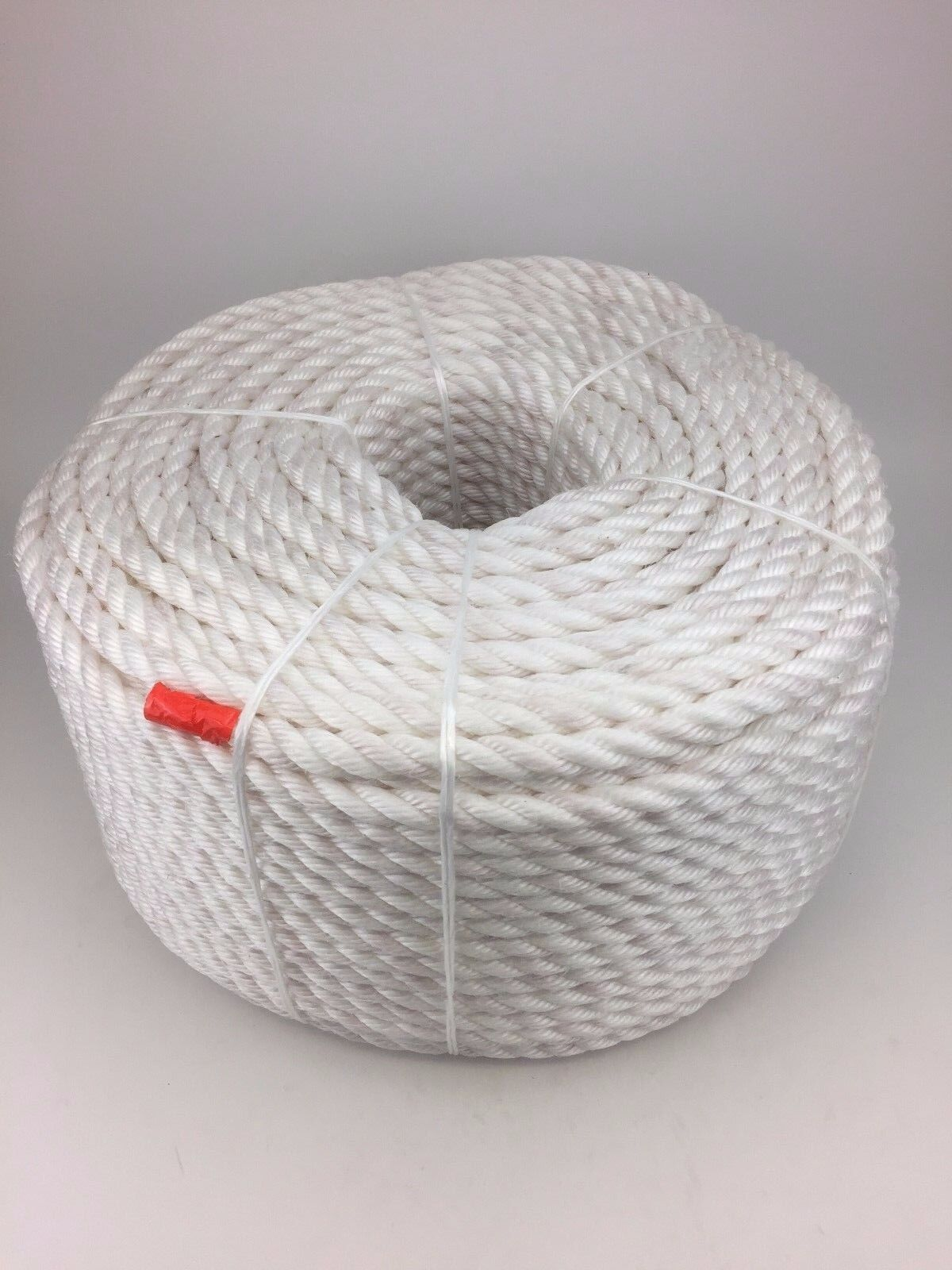 10mm White Staplespun Rope x 220m Coil, Boat Anchor Mooring Scaffolding Lifting