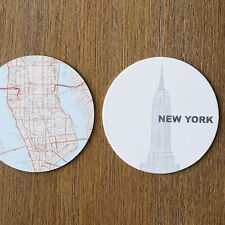Design Ideas New York City Map Reversible Coffee Table Coasters Set Travel Gift