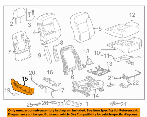 GM OEM Passenger Seat-Outer Finish Panel 84233171