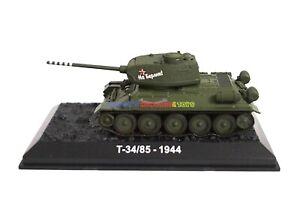 1-72-Diecast-Tank-Russian-T-34-85-Soviet-Army-Medium-Tank-WWII-Military-Model