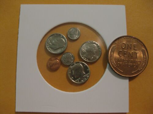 U.S Coin Miniature collection dollar to penny all 6 coins  take a look  Modern