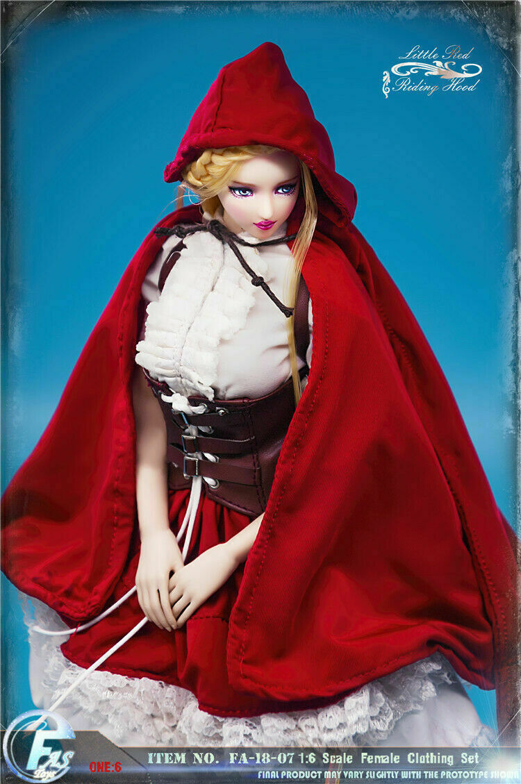FASToys FASToys FASToys 1 6 Little Red Riding Hood Gothic Lolita Female Clothes Set Figure Doll 0314eb