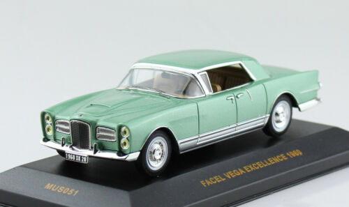 FACEL vega excellence vert 1960 1:43 IXO voiture miniature mus051