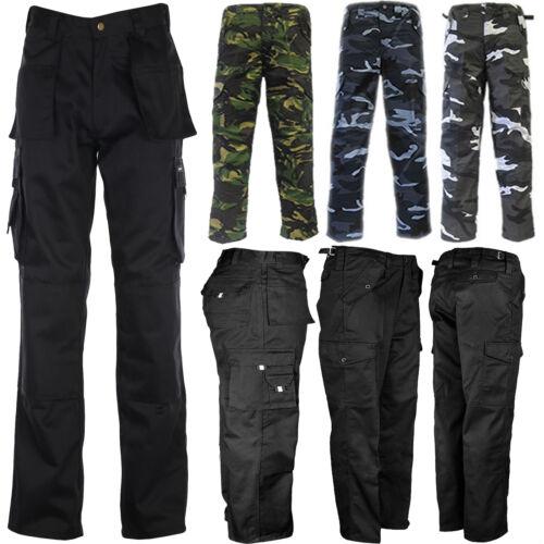 Da Uomo Tuff dovere Esercito Militare Combat Lavoro Pantaloni MIMETICO CAMOUFLAGE Cargo Pants