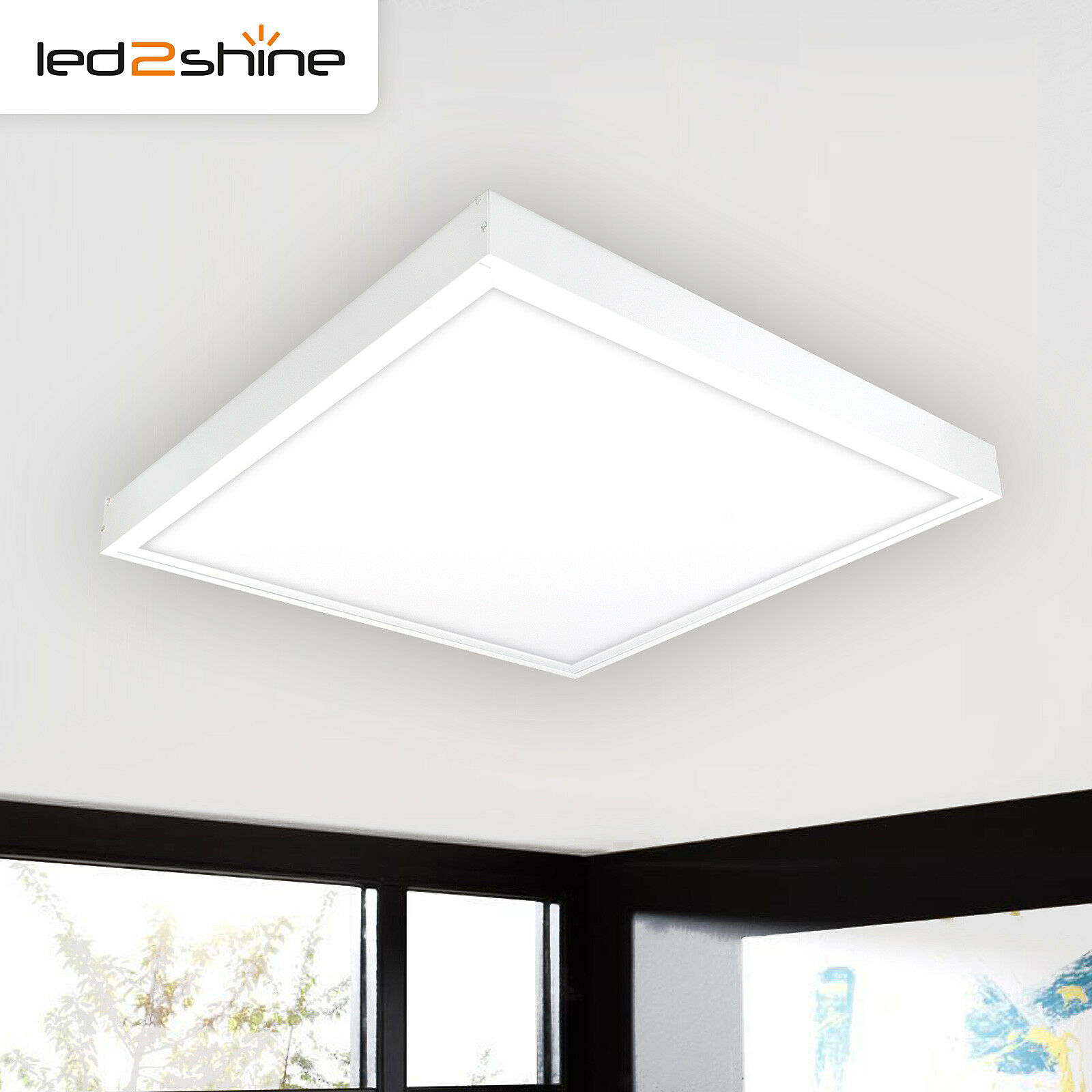 Panel LED lámpara de techo 60x60 cuadrada 40w LED Panel neutral blancoo 4000k salón