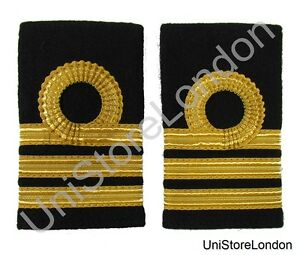 Epaulette Merchant Navy Chief officer Chief Mate Slip-on Curl 2 Bar  R1436