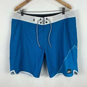Quiksilver-Mens-Board-Shorts-36-Blue-Drawstring
