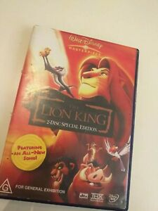 Dvd-THE-LION-KING-2-DISC-SPECIAL-EDITION-in-English
