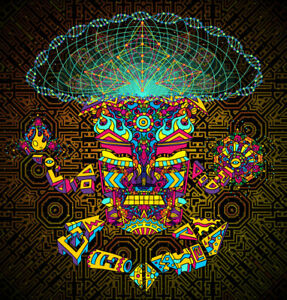 Uv Backdrop Fluorescent Glow Tapestry Psychedelic Art