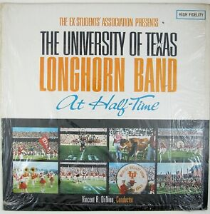 UNIVERSITY-OF-TEXAS-LONGHORN-BAND-At-Half-Time-LP-1965-MEMORABILIA-NM-NM