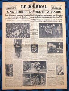 La-Une-Du-Journal-Le-Journal-7-Fevrier-1934-Emeutes-A-Paris-Le-6-Fevrier