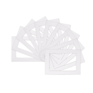 Picture-Mounts-Frames-Mount-Pack-of-10-Various-Sizes-A4-A3-White