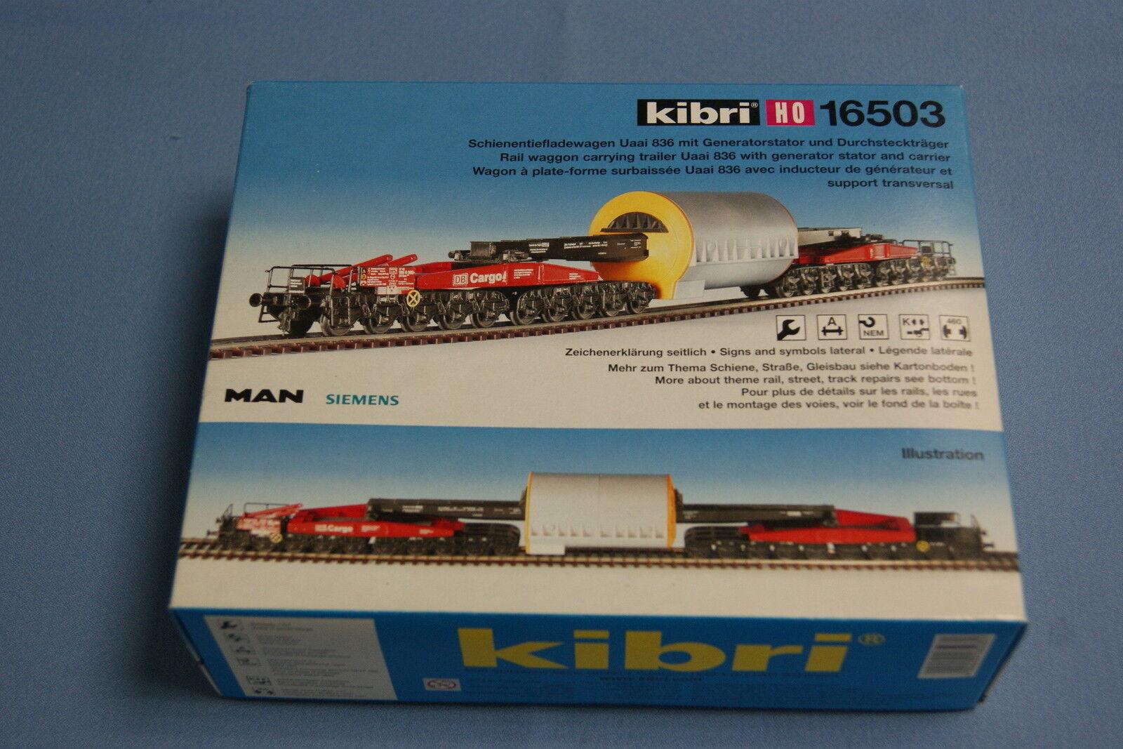 KIBRI 16503 Heavy Duty Rail deepload car DB Cargo    Un-build KIT HO