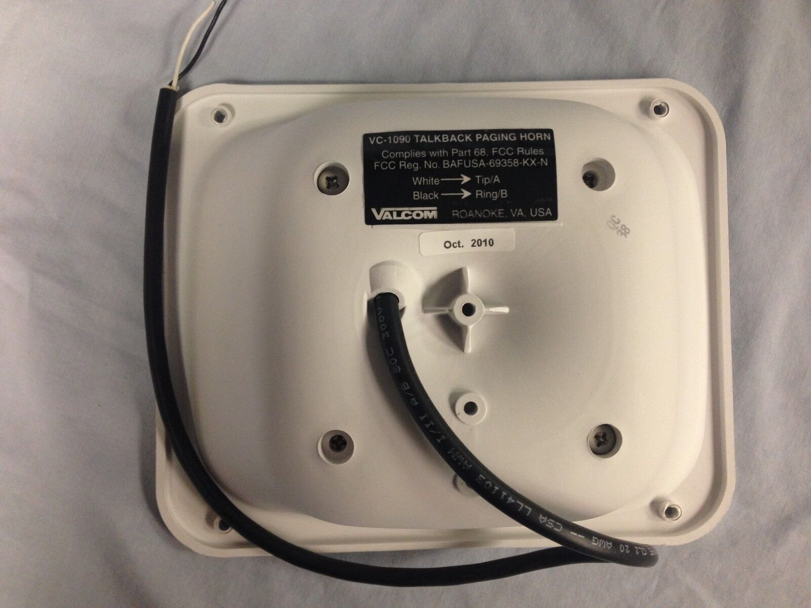 Valcom SX15-T 15-watt Paging Horn w//25//70//100-volt Transformer Beige