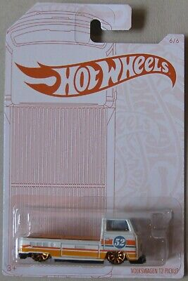 2020 Hot Wheels Pearl And Chrome 6//6 Volkswagen T2 Pickup White
