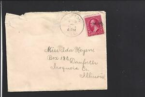 CLIFTON-ILLINOIS-1899-COVER-WITH-LONG-LETTER-IROQUIS-CO-1857-OPEN-MENDED-CVR