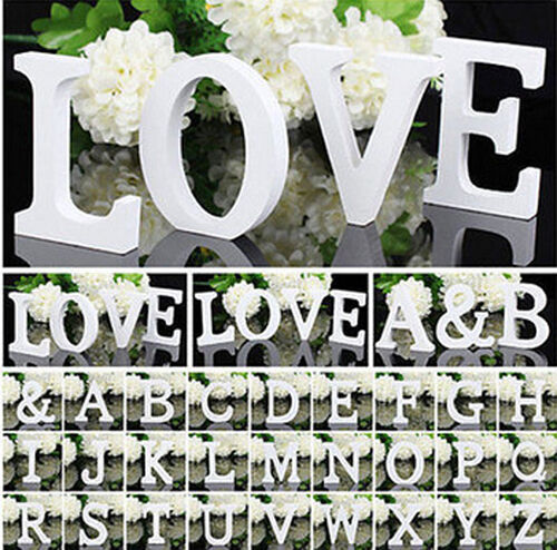 26 Large A-Z White Letters Alphabet Wall Hanging Wedding Party Home Shop Decor