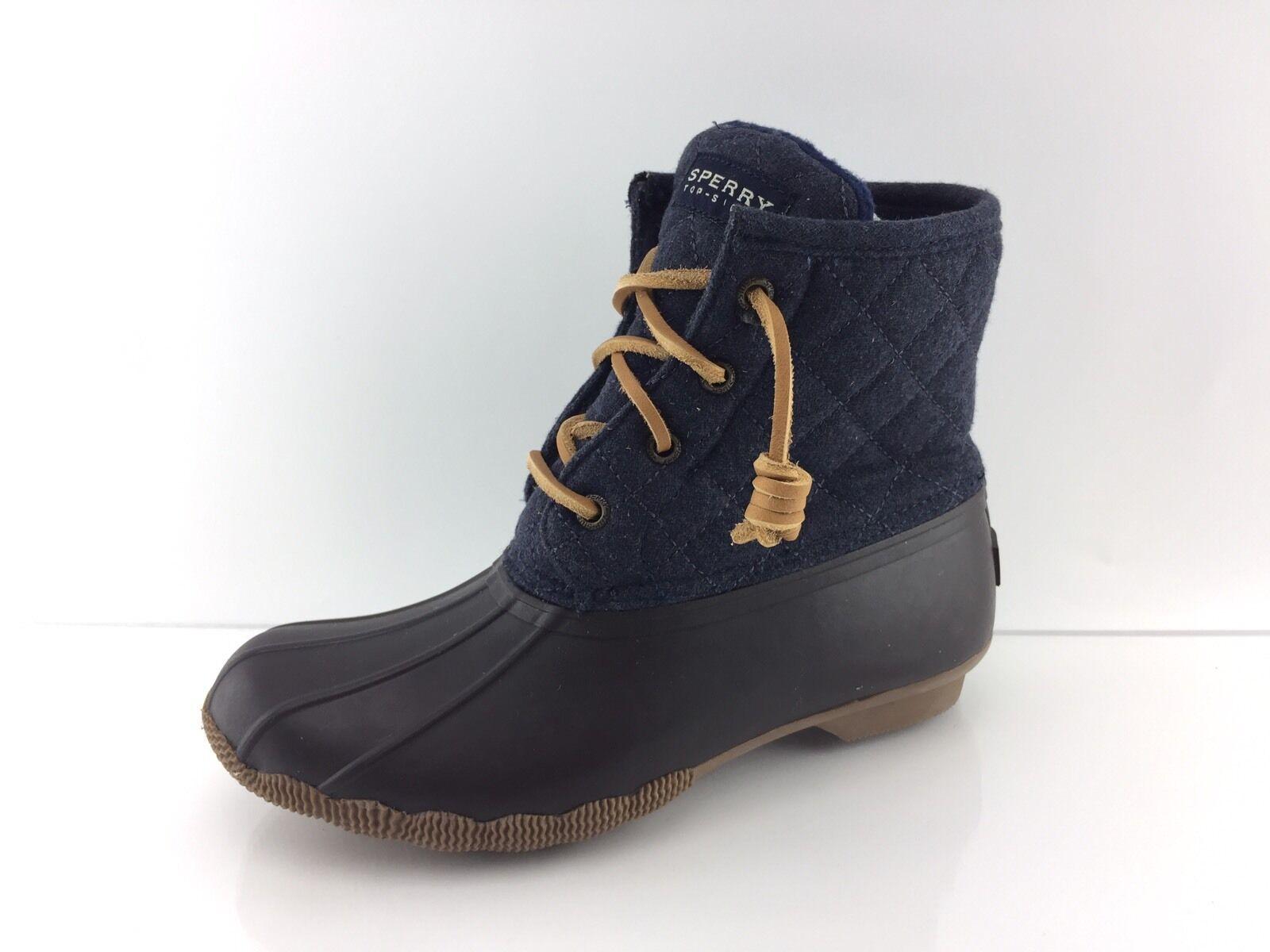 il miglior servizio post-vendita Sperry Top Sider Sider Sider Saltwater Wool Donna  Navy Dark Marrone Ankle stivali 5  saldi