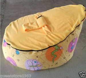 Prime Details About New Canvas Yellow Baby Infant Bean Bag Snuggle Bed Portable Seat No Filling Uwap Interior Chair Design Uwaporg