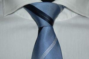 HUGO-BOSS-TAILORED-KRAWATTE-100-Seide-Hand-Made-in-Italy-Pastel-Blue