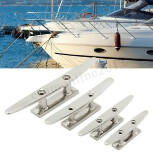 2-Holes-Low-Flat-Deck-Cleat-Hardware-316-Stainless-Steel-For-Marine-Boat-4-Sizes