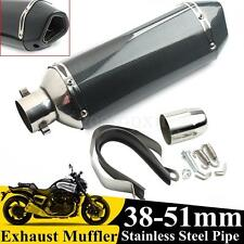 Universal Carbon Color 38-51mm Motorcycle Exhaust Muffler Pipe Exhaust DB Killer