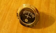 NOS AMP GAUGE WOOD BOAT RAT ROD HOT SCTA VINTAGE DASH BRASS ERA RACE CAR PREWAR