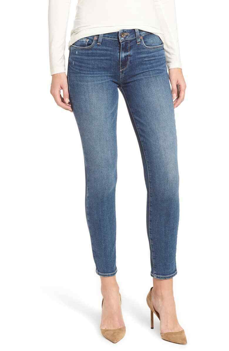 NWT PAIGE VERDUGO ANKLE SKINNY JEANS IN HANSEN WASH SIZE 25