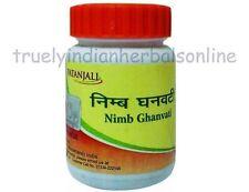 Ramdev Baba Nimb Ghan Vati Tablets Divya Patanjali Acne Pimples Herbal Care 40g