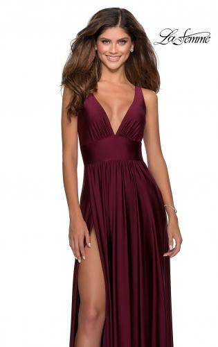 NEW WITH TAGS La Femme Prom Dress Style 28547 Dark Berry SIZE 4