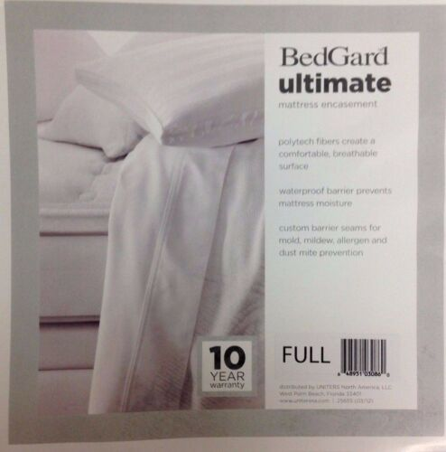 BedGard Ultimate Mattress Encasement Waterproof Custom Barrier Seams FULL  A232