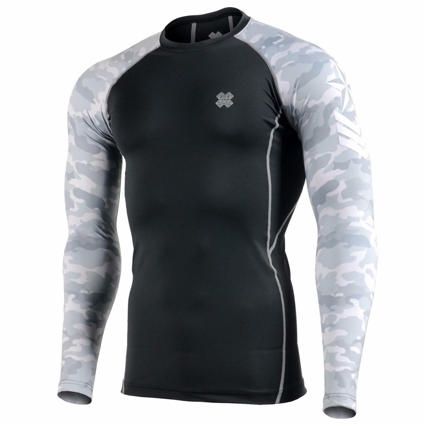FIXGEAR CPD-BM1G Compression Base Layer Skin-tight Shirts Training Gym MMA