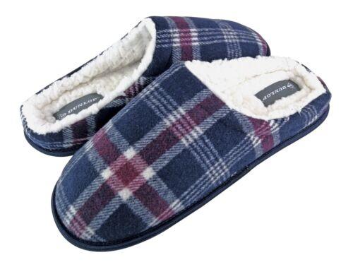 DUNLOP Homme Confortables Eponge Hiver Chaudes Pantoufles Chaussons de Maison
