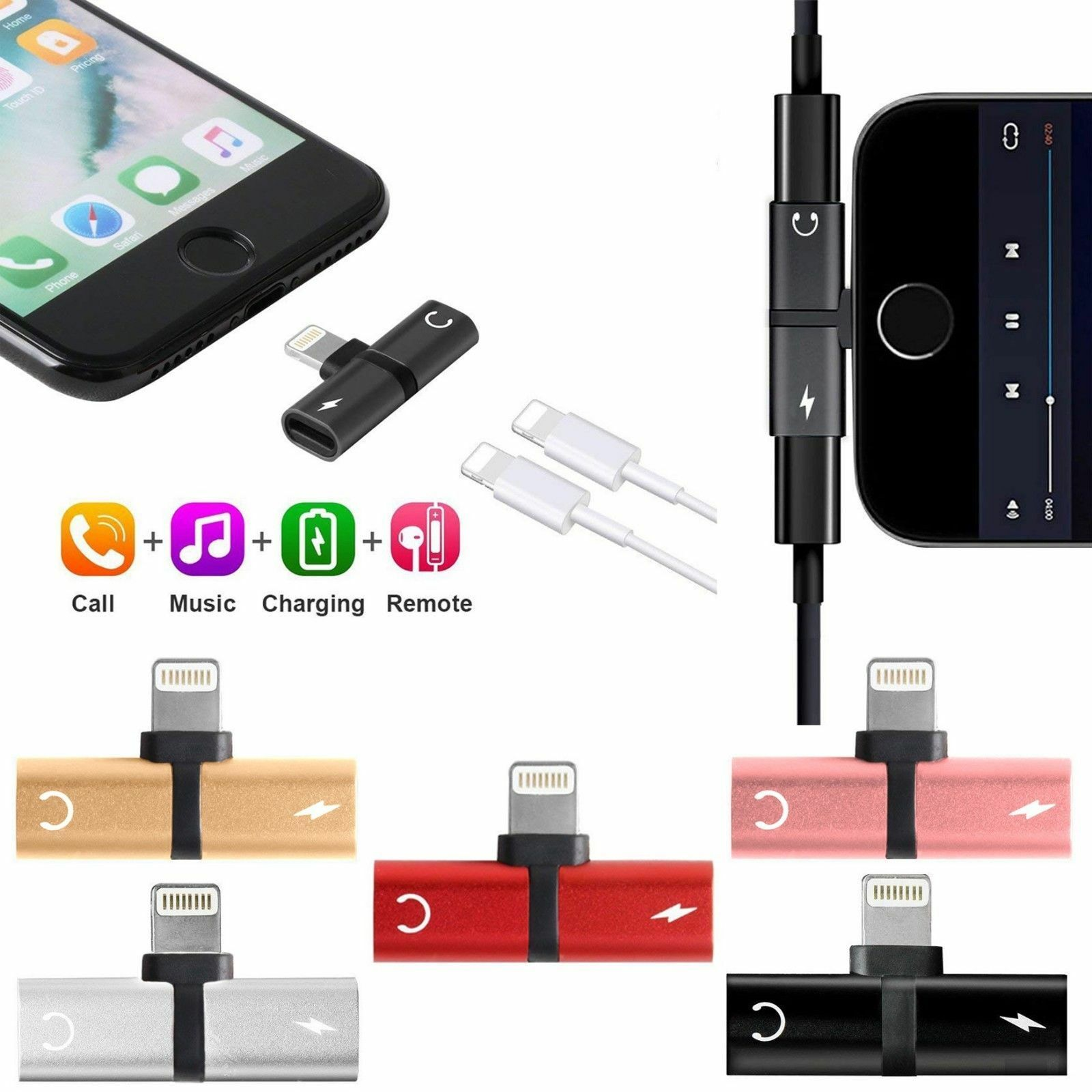 Smart Connect Iphone 7 Splitter Headphone Charging Adapter Apple Lightning Tech For Sale Online Ebay