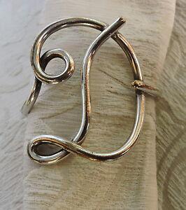 Image is loading Antique-Silver-Plated-Napkin-Holder -D-Letter-Portatovaglioli- & Antique Silver Plated Napkin Holder D Letter Portatovaglioli forma ...