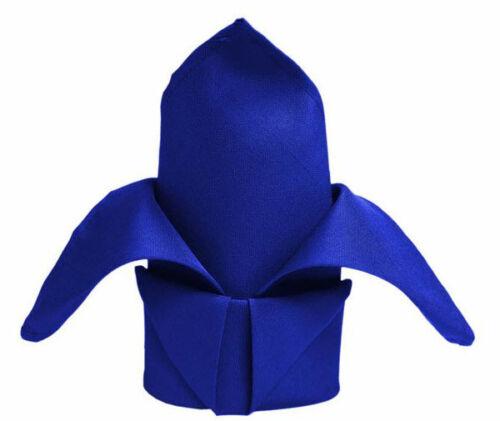 Royal Blue x 10 Wedding /& Event Linen Quality Polyester Napkins 50cm