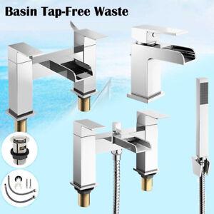 Bathroom Sink Basin Mixer Tap Set Waterfall Bath Filler And Shower