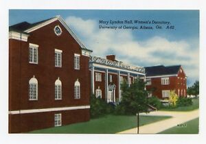Mary-Lyndon-Hall-Dormitory-University-of-Georgia-Athens-Georgia-Postcard